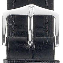 Hirsch Duke Lederarmband schwarz M 01028150-2-20 20mm