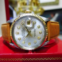 Rolex Oyster Perpetual Datejust Diamond Steel Yellow Gold Watch