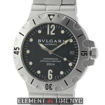 Bulgari Diagono Scuba Chronometer Stainless Steel 38mm Black...