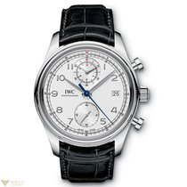 IWC Portuguese Chronograph Classic Stainless Steel Silver Dial...