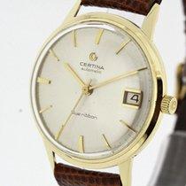 Certina Blue Ribbon Vintage Men's Watch solid 14K Yellow...