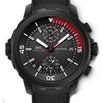 IWC IW379505 Aquatimer Chronograph in Black Steel - On Black...