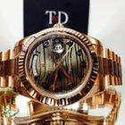 Rolex Day-Date II 2 President 41mm Rose Gold Chocolate WAVE Dial