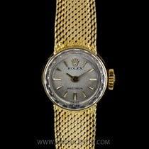 Rolex 18k Yellow Silver Baton Dial Precision Vintage Ladies 2604