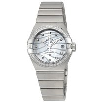 Omega Constellation Co-Axial White Mother-of-Pearl Dial Ladies...