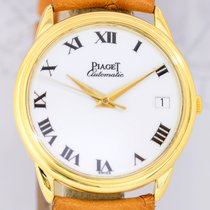 Piaget 18K Gold Automatik P961 white roman dial Dresswatch