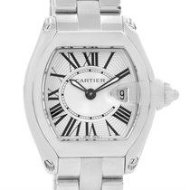 Cartier Roadster Silver Dial Ladies Watch W62016v3 Box Papers