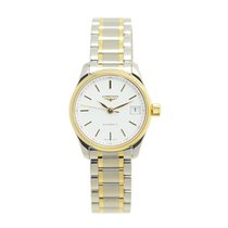 Longines Master 18k Gold Steel White Automatic L2.128.5.12.7