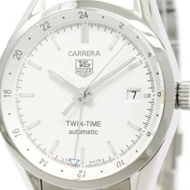 TAG Heuer Polished Tag Heuer Carerra Twin Time Steel Automatic...