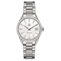 TAG Heuer Carrera 32mm Date Quartz Ladies Watch Ref WAR1315.BA...
