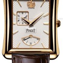 Piaget [NEW] Black Tie Emperador Silver Dial Brown Leather