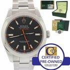 Rolex Milgauss Steel Black Orange 40mm Antimagnetic Watch