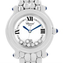 Chopard Happy Sport White Dial Floating Diamond Watch 278236-3005