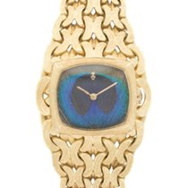 Corum Yellow Gold Peacock Feather Woven-Link Bracelet Watch
