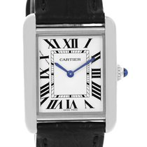 Cartier Tank Solo Ladies Steel Quartz Watch W1018255 Box Papers