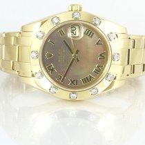 Rolex Datejust Perlmutt Gold 18K 34mm Baden-Baden