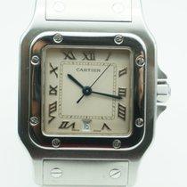 Cartier Santos de Cartier Galbee Medium Roman Numerals Silver...