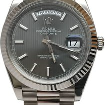 Rolex President Day Date 40mm 18k White Gold 228239