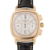 Patek Philippe New  Complications 18k Rose Gold Silver Manual...