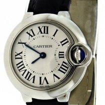 Cartier W69018Z4 Ballon Bleu 28mm Silver Dial Women BLK...