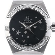 Omega Constellation Co-Axial Brushed Stahl Diamond Automatik...