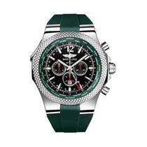 Breitling Bentley GMT Black Dial Rubber Men's Watch GRRS
