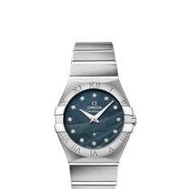 Omega Constellation Quartz 27mm Blue Dial with Diamonds