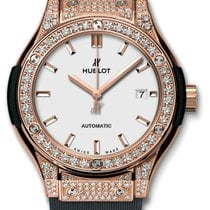 Hublot : 33mm Classic Fusion King Gold Opalin Pave Watch