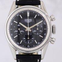 Heuer Carrera 1964 Re-Edition Handaufzug schwarz Chronograph...