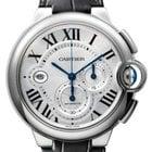 Cartier Ballon Bleu / Chronograph / Leather Strap / Stainless...