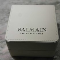 Balmain vintage watch box white lether nos