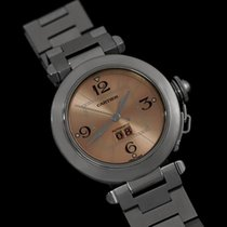 "Cartier Mens Pasha ""Big Date"" Medium Size Watch,..."