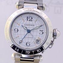 Cartier Pasha Date GMT Automatic Stahl Klassiker Luxusuhr...
