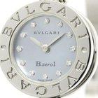 Bulgari Polished  B-zero1 Diamond Blue Mop Dial Steel Ladies...