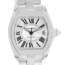 Cartier Roadster Mens Stainless Steel Watch W62025v3 Box Papers