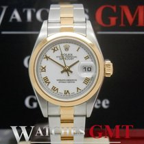 Rolex Datejust 79163 Steel Gold Lady Smooth Bezel