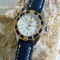 "Breitling Damenuhr Lady J"" / D52065 mit Breitling Lederband"