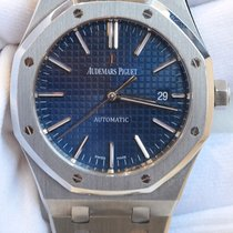 Audemars Piguet Royal Oak 41 blue dial in full stainless...