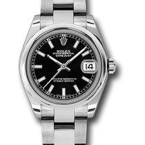 Rolex Unworn 178240 DateJust 31mm with Smooth Bezel in Steel -...