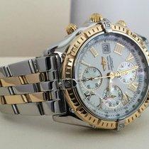 Breitling Crosswind Pilot Gold Steel Roman Dial Pearl Subdials...