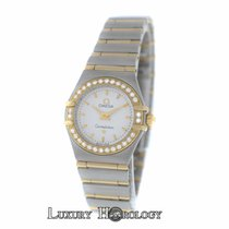 Omega Constellation Diamond Bezel Full Bar 18K Yellow Gold 22MM