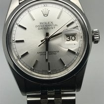 Rolex DATEJUST 36MM AUTO RARE SMOOTH BEZEL GREY DIAL LIKE NEW