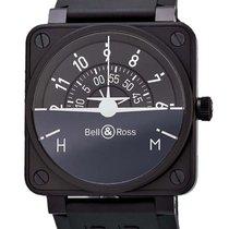 Bell & Ross Aviation BR01 Turn Coordinator Black PVD...