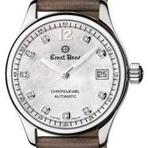 Ernst Benz ChronoJewel - 10 Diamonds - White MOP - Brown Satin...