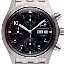 IWC Flieger Chronograph Stahl Automatk Armband Stahl 40mm...