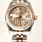 Rolex DateJust  26mm Lady Steel and red gold 18kt diamonds dial