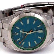 Rolex Milgauss Green Crystal Z Blue Dial