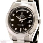 Rolex Day-Date II Ref-218206 950 Platinum Box Papers LC 100 Bj...