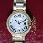 Cartier Ballon Bleu 18k Gold & Diamond 36mm Watch NEW...