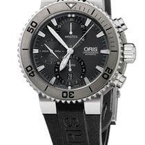 Oris Aquis Titan Chronograph Farbe Grau Schwarz